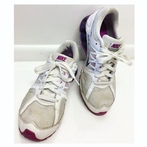 NIKE | White & Purple Reax Run 6 Sneakers Running